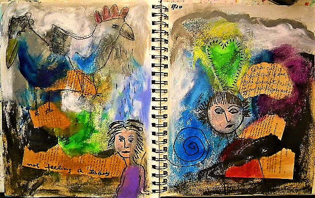 abstract art journaling